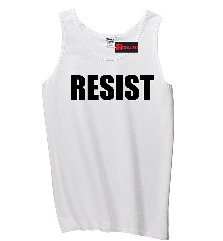 Comical Shirt Mens Resist Tee Anti Donald Trump Political Protest Tank Top