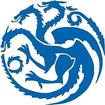 """NI170 Targaryen logo Game of Thrones House Vinyl Decal Sticker 5.5/"""" RED"""