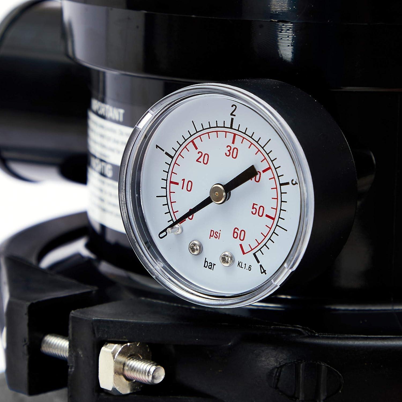AREBOS Filtre /à sable avec pompe 400 W Gris Volume du r/éservoir jusqu/à 20 kg de sable 10200 l//h