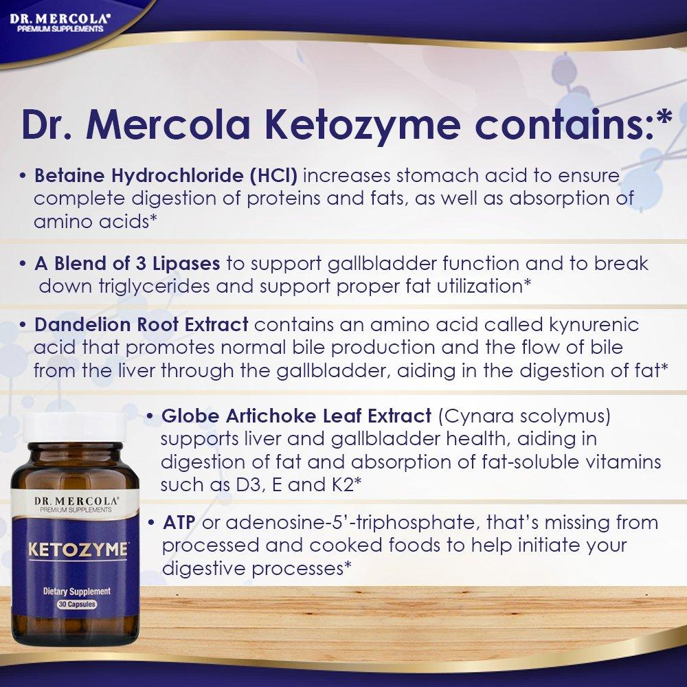 Amazon Dr Mercola Ketozyme Digestive Enzymes 30 Capsules