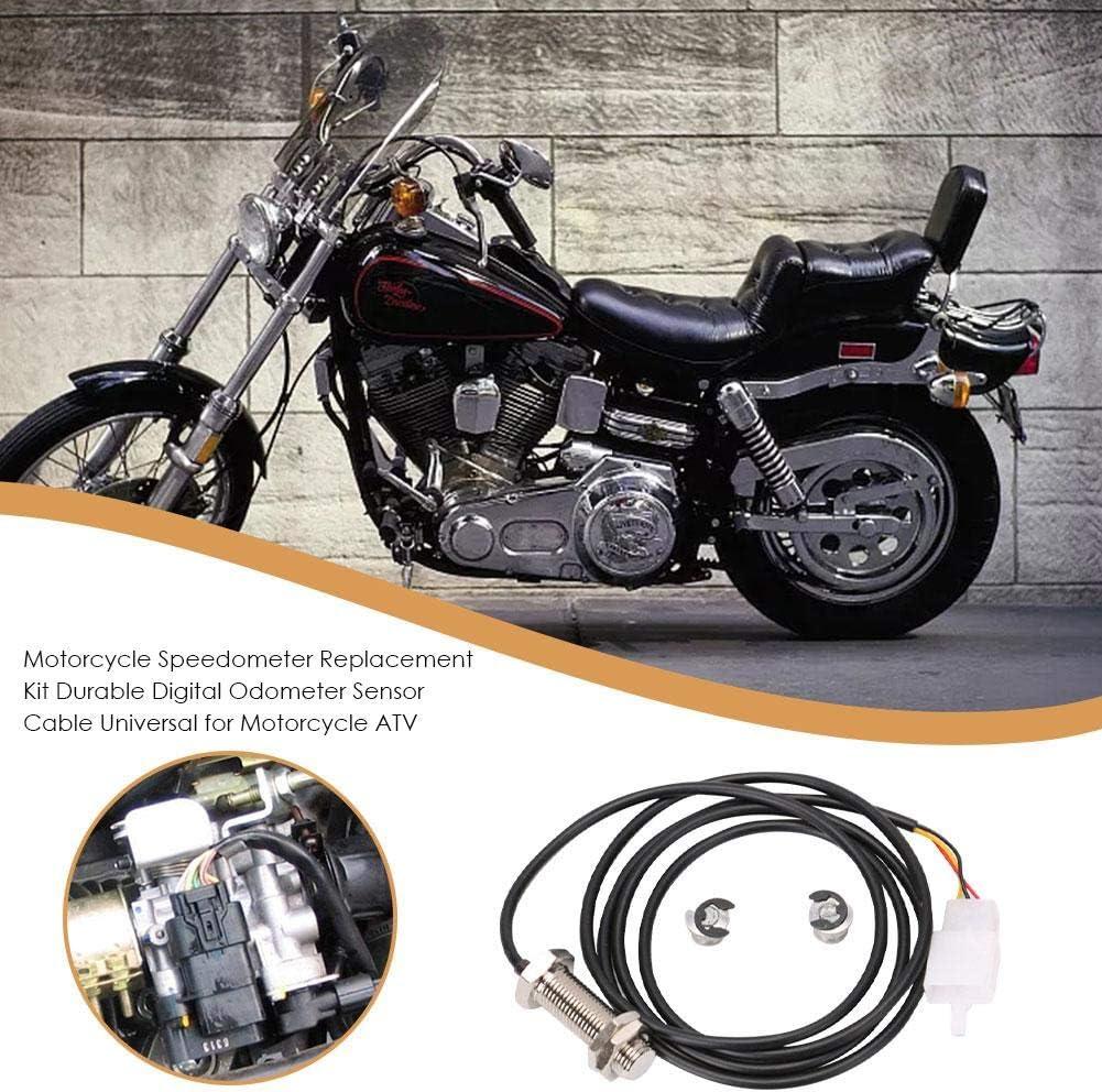 tac/ómetro y sensor magn/ético para Dirtbike Cuentakil/ómetros digital para motocicleta scooter metal con 2 imanes ATV jinclonder pl/ástico compatible directamente