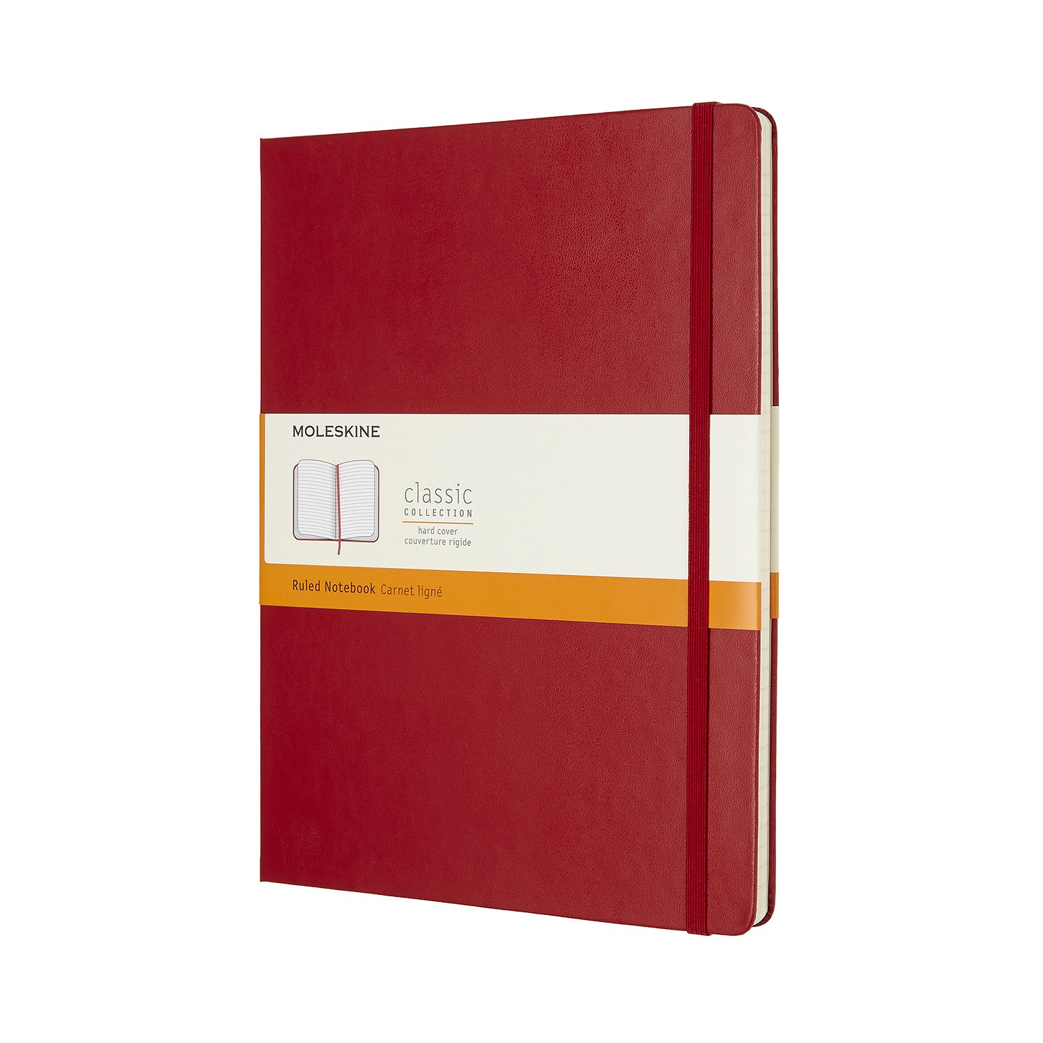 Moleskine Classic Notebook Xl Ruled Scarlet Red Hardcover..
