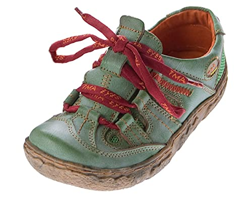 TMA - Zapatos de cordones de cuero para mujer, color blanco, talla 36