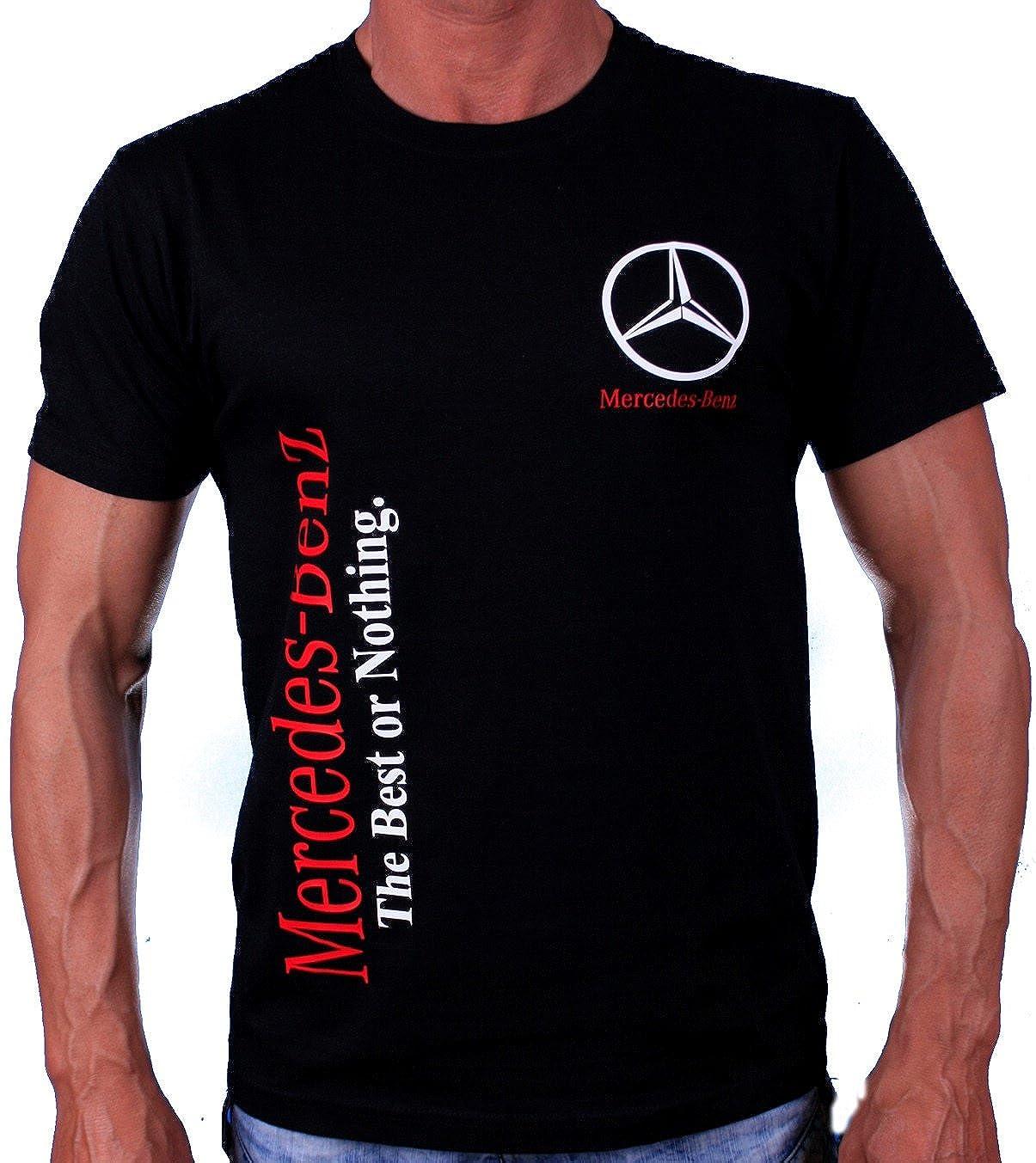T-Shirt The Best or Nothing AMG Poloshirts Logo 63 55 65 Stickerei Binder Hemd Schwarzes Baumwolle T-Shirt Polo