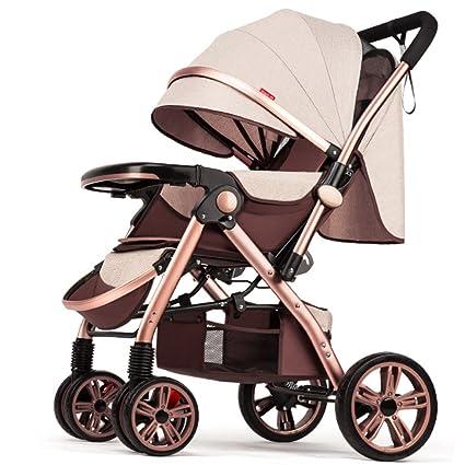 ZHXUANXUAN Bebé Recién Nacido Plegable Antichoque Carro De La Vista Alta Cochecito De Paseo Infantil (