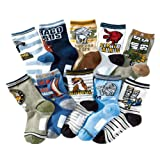 Amazon Price History for:Kids Boy's Fashion Cartoon Dinosaurs Pattern Sport Socks 10 Pairs