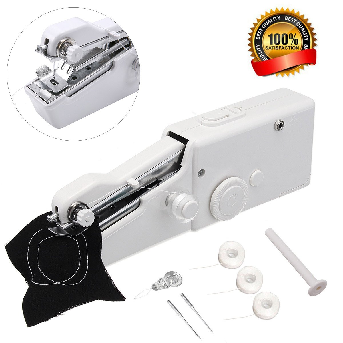 MSDADA Mini Portable sewing machine,Professional Sewing Handheld Electric Household Tool for Fabric, Clothing, Kids Cloth, Home Travel Use Master-Ed 4336999801
