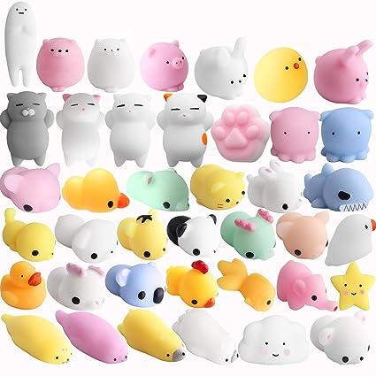 Outee Mochi Squishy Toys 16 Pcs Mini Squishy Animals Toys