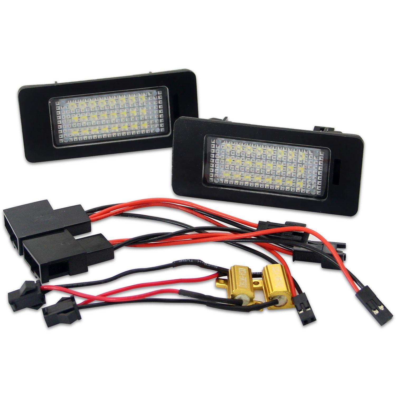 WinPower LED Luces de matr/ícula para coche L/ámpara Numero plato luces Bulbos 3582 SMD con CanBus No hay error 6000K Xen/ón Blanco frio para Mini R55 R58 R57 2 Piezas R56 R59 etc