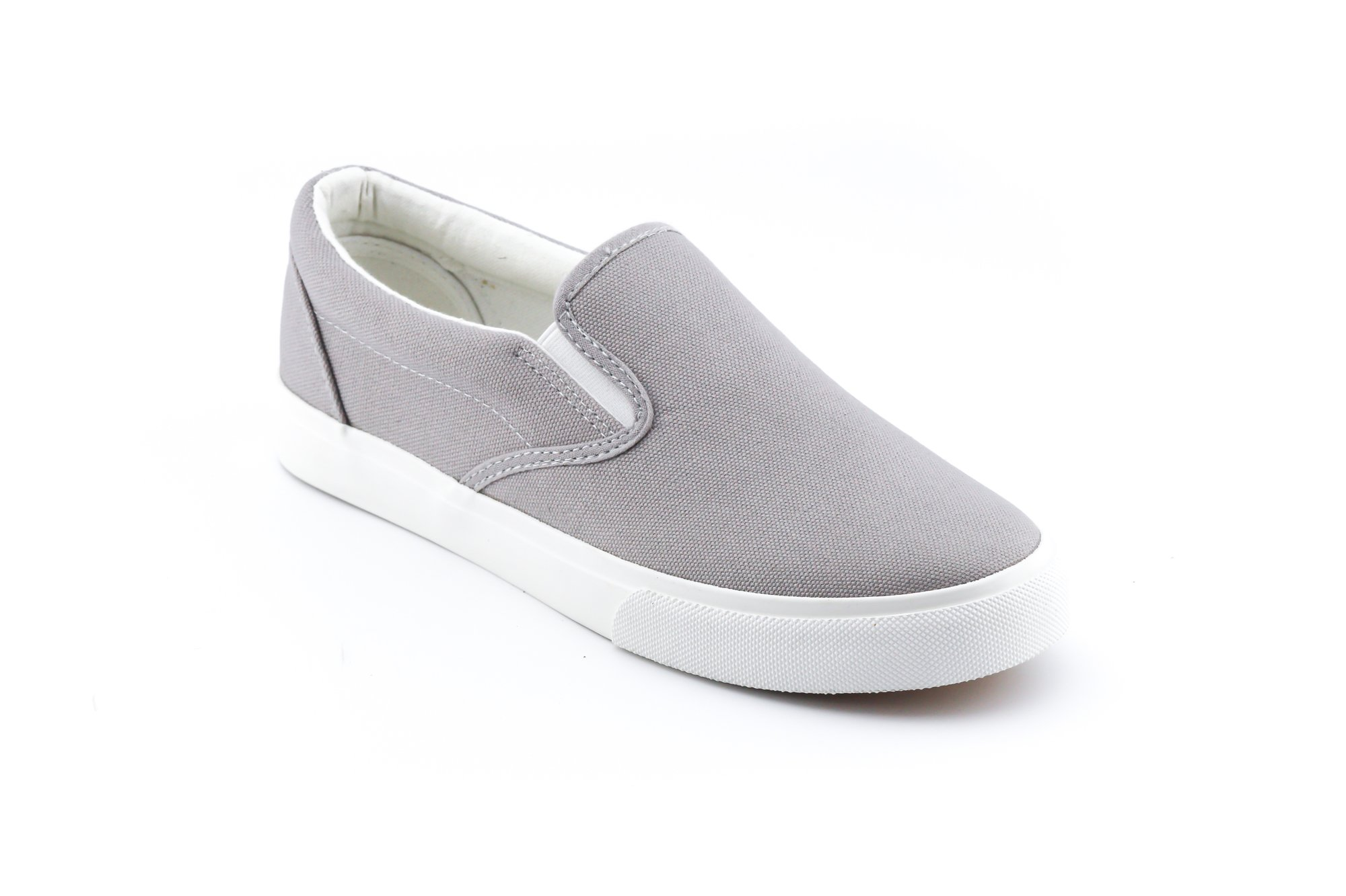 CALICO KIKI HALLIE-CK01 Women's Slip On Canvas Sneakers Casual Comfort (8 US Grey)