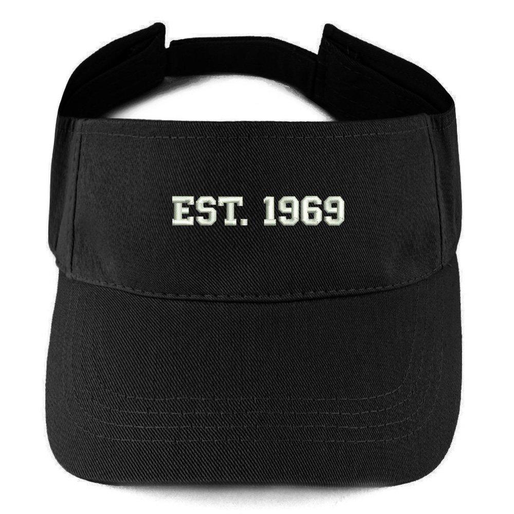 50th Birthday Gift Summer Adjustable Visor Trendy Apparel Shop EST 1969 Embroidered