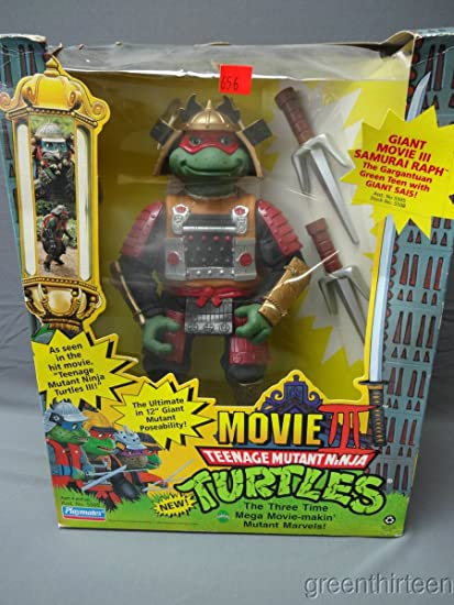 Amazon Com Teenage Mutant Ninja Turtles Movie 3 Giant Raph Figure