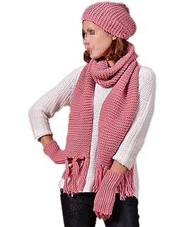 Turkey - Ensemble bonnet, écharpe et gants - Femme - Blanc -  Amazon ... 81c03ab5f2d