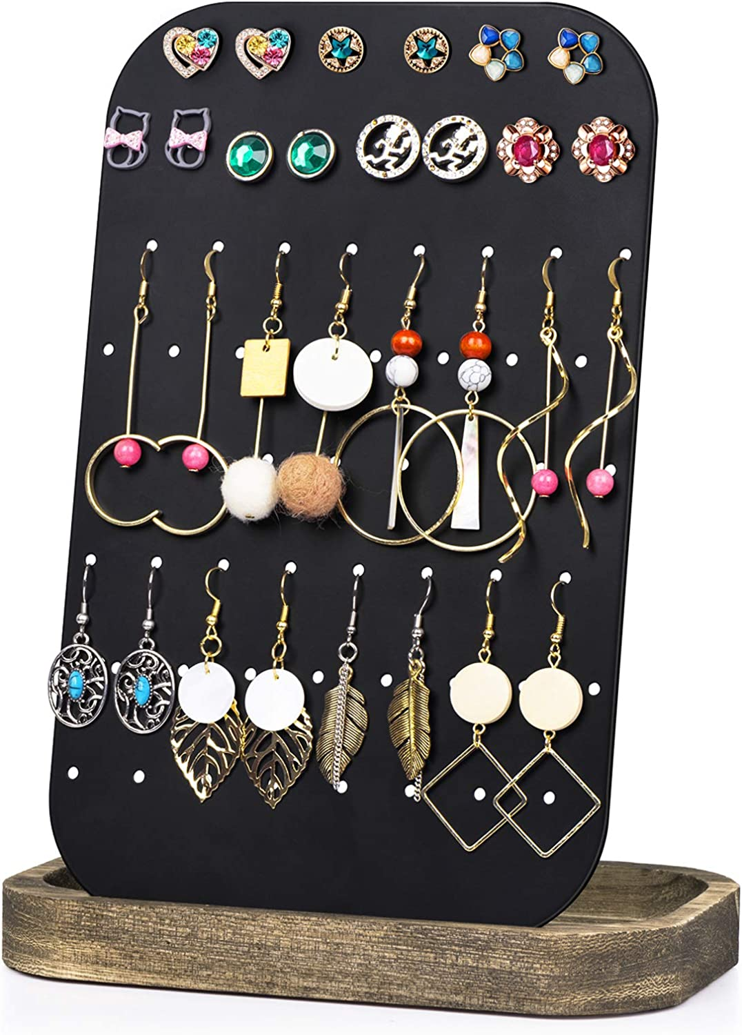 Details about  /48 Hole Jewelry Display Rack Earrings Necklace Ear Studs Stand Organizer Holder