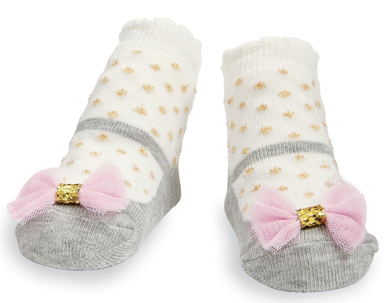 Mud Pie Baby Girl 0-12 Months Grey Mesh Bow Socks
