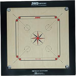 Synco Carrom Board (20 MM, Champion Genius) Board Games at amazon