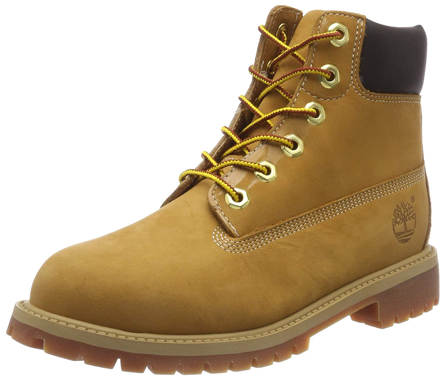 Timberland TB012909713 Youth's 6-in Premium WP Boot Wheat Nubuck 6 W US