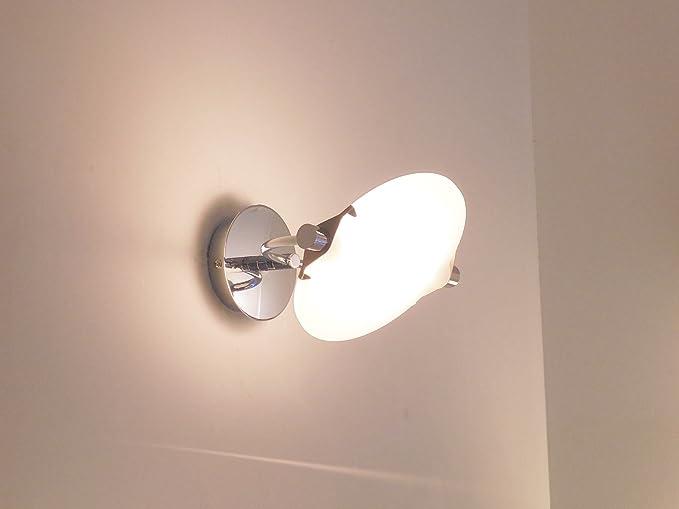 Applique lampada parete design moderno cromo salone camera amazon