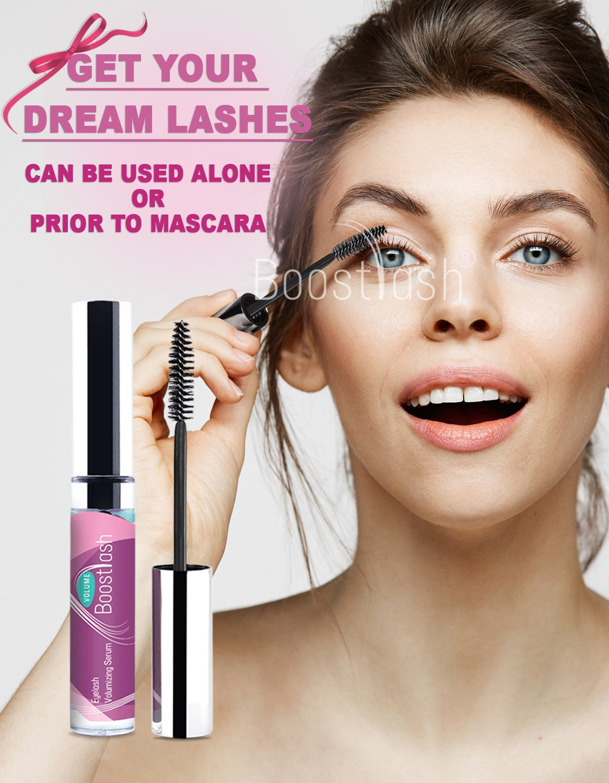 BoostVolume - Eyelash Volumizing serum 5ml ,Volumizing Fuller & 3X Healthier Lashes (in 30 days), Proudly Made in USA. Premium Quality Ingredients Using Grape Stem Cell Extract