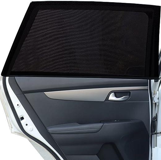 Tevlaphee Auto Sonnenshutz Kinder, Universal Sonnenblende Auto Netz Sonnenschutz Auto Baby mit Zertifiziertem UV für Seitenfenster Meshmaterial…