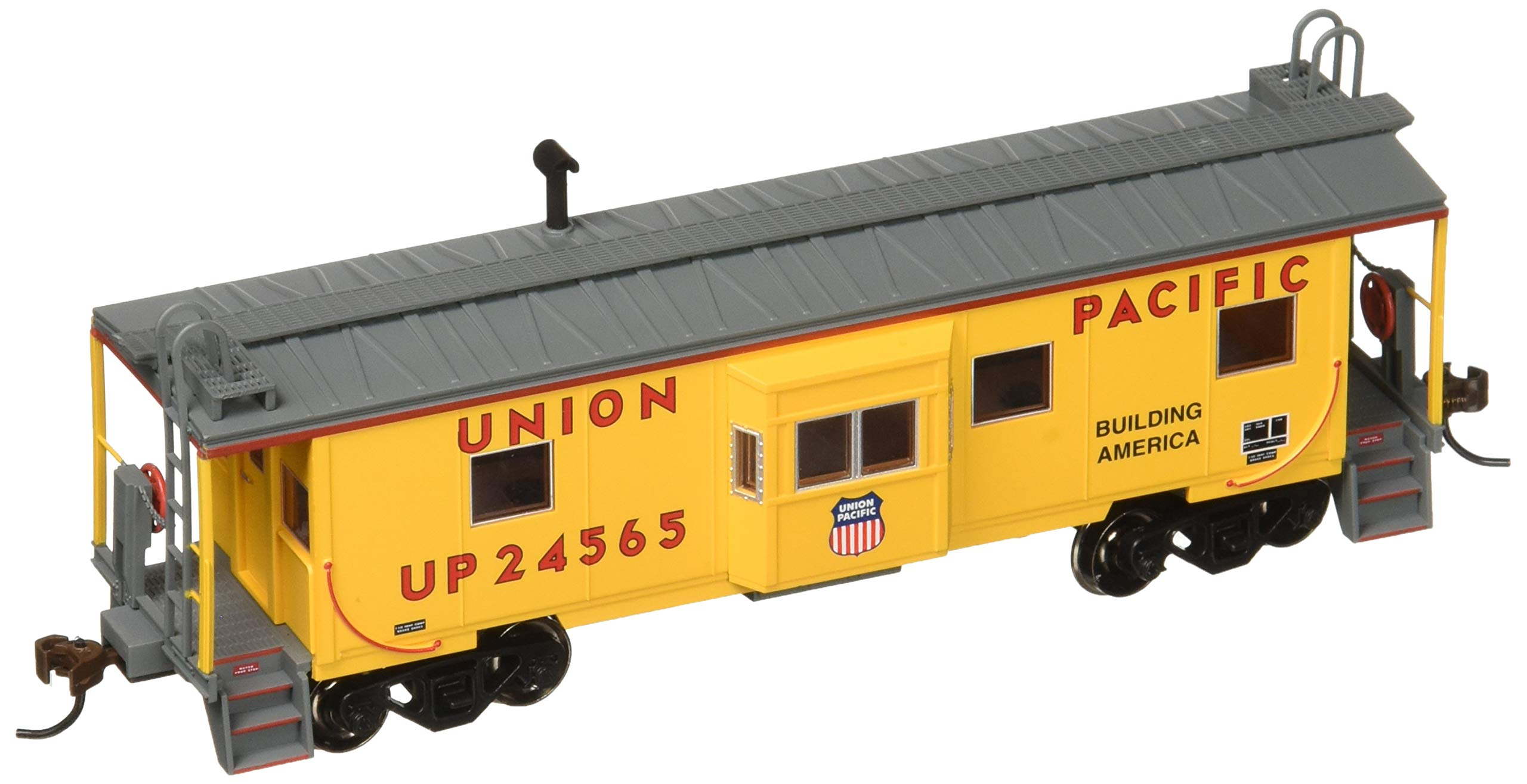 Bachmann Bay Window Caboose Caboose, Prototypical Yellow