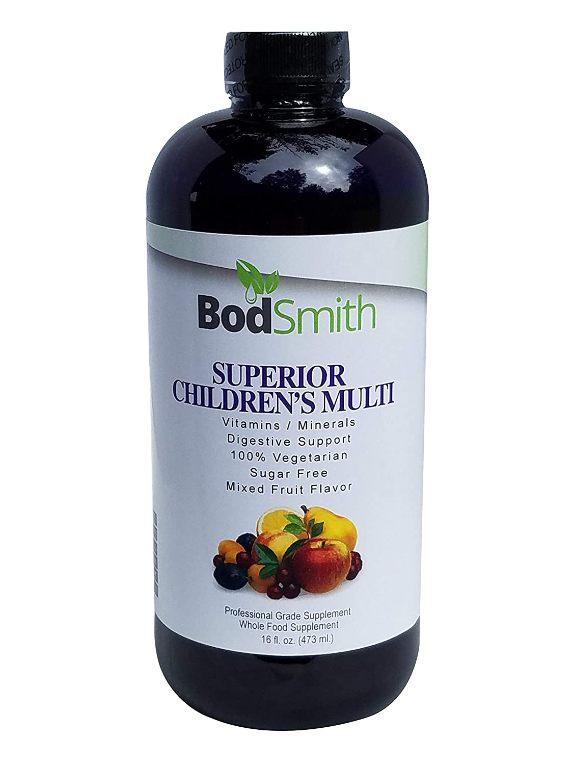 BodSmith Superior Children s Multi is a Professional Grade Liquid Whole Food Daily Supplement Immune Booster for Toddlers Kids All Natural Organic Ingredients