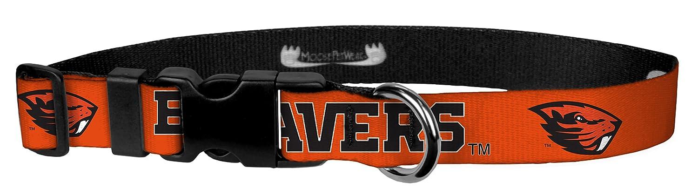 Oregon State orange Beaver 1\ Oregon State orange Beaver 1\ Moose Pet Wear Adjustable Collar 1  XL, Oregon State-orange Beaver