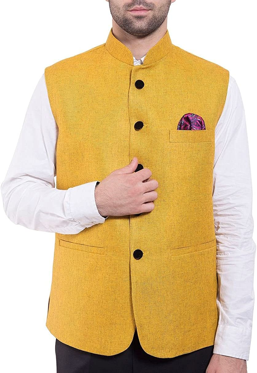 WINTAGE Men's Rayon Bandhgala Festive Nehru Jacket Waistcoat - Available in 19 Colors