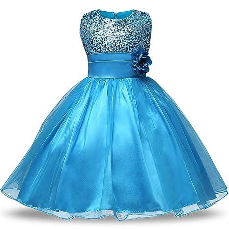 e756936c1 Amazon.com: 0-12 Age Flower Girl Tutu Dresses for Weddings Elegant Gown  Baby Designer Kids Sequins Party Girl Children Flower Dresses,As Photo3,6M:  Kitchen ...