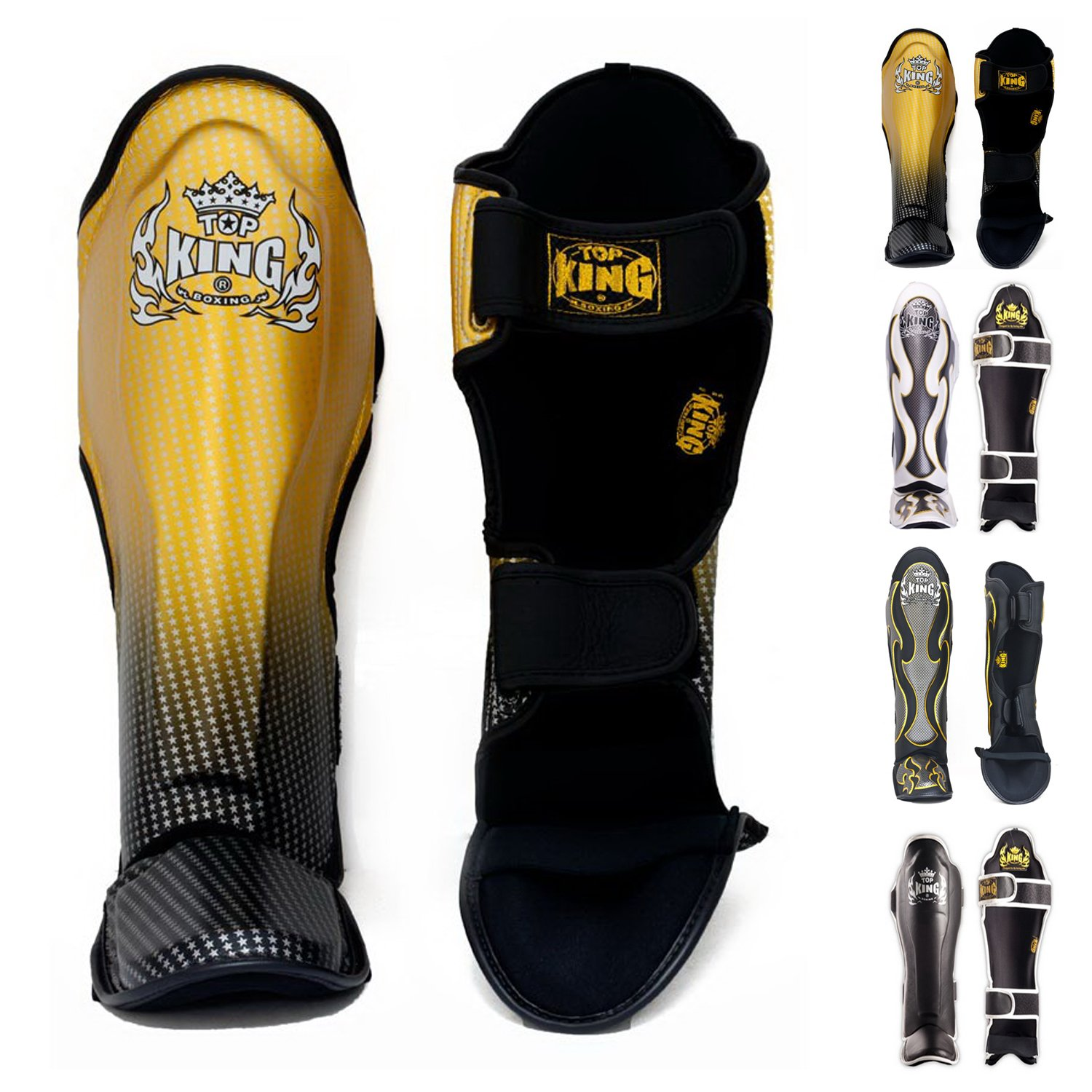 Top King Shin Guards - Muay Thai Top King Shin Guard Protector Empower Creativity Superstar