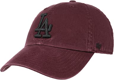 Gorra curva granate con logo negro de Los Angeles Dodgers MLB ...