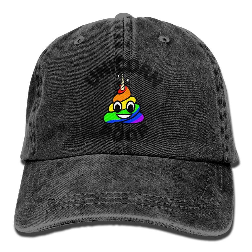 Funny Cartoon Unicorn Poop Adult New Style COWBOY HAT