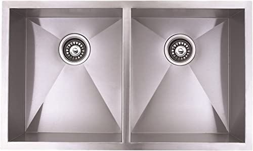 Blue Ocean 32 KSR120 Stainless Steel Undermount Kitchen Sink with FREE Grids and Strainers