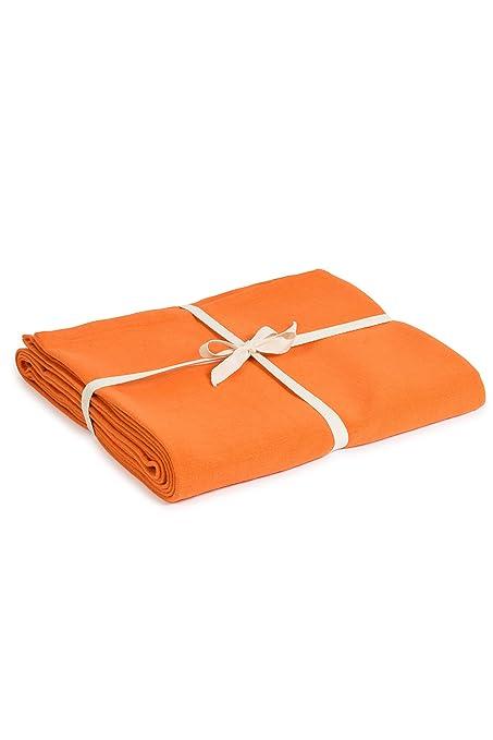 Estudio de Yoga Algodón orgánico Yoga Manta, Saffron: Amazon ...