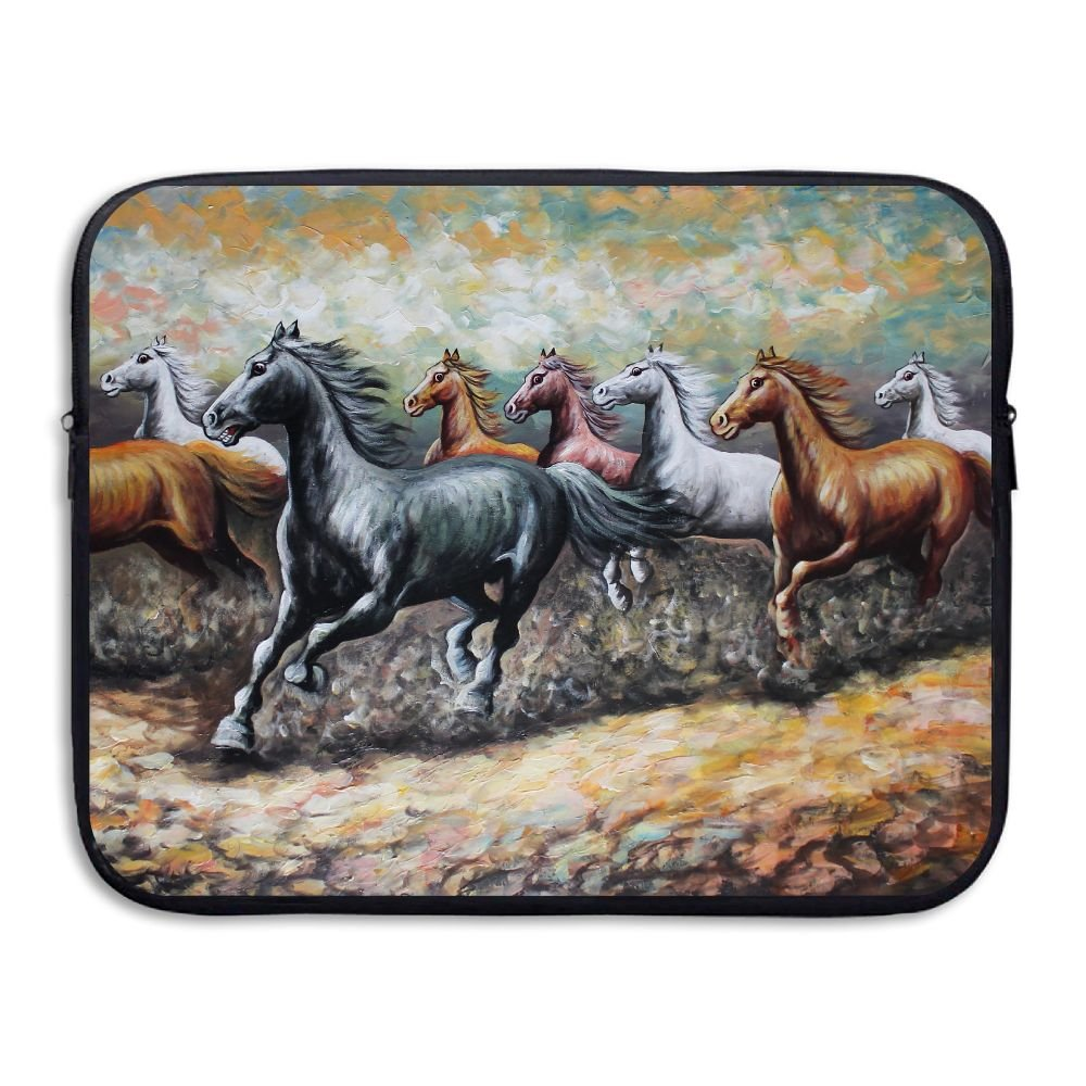 Laptop Storage Bag Eight Fine Horses Painting Portable Waterproof Laptop Case Briefcase Sleeve Bags Cover