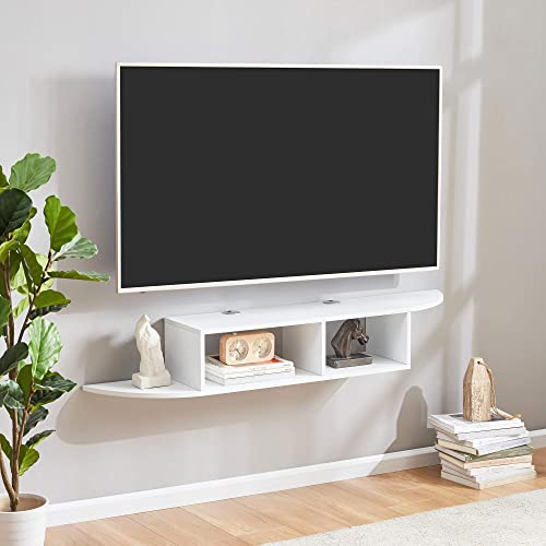 Sunon Floating TV Stand Wall Mounted Entertainment Center Media Console White