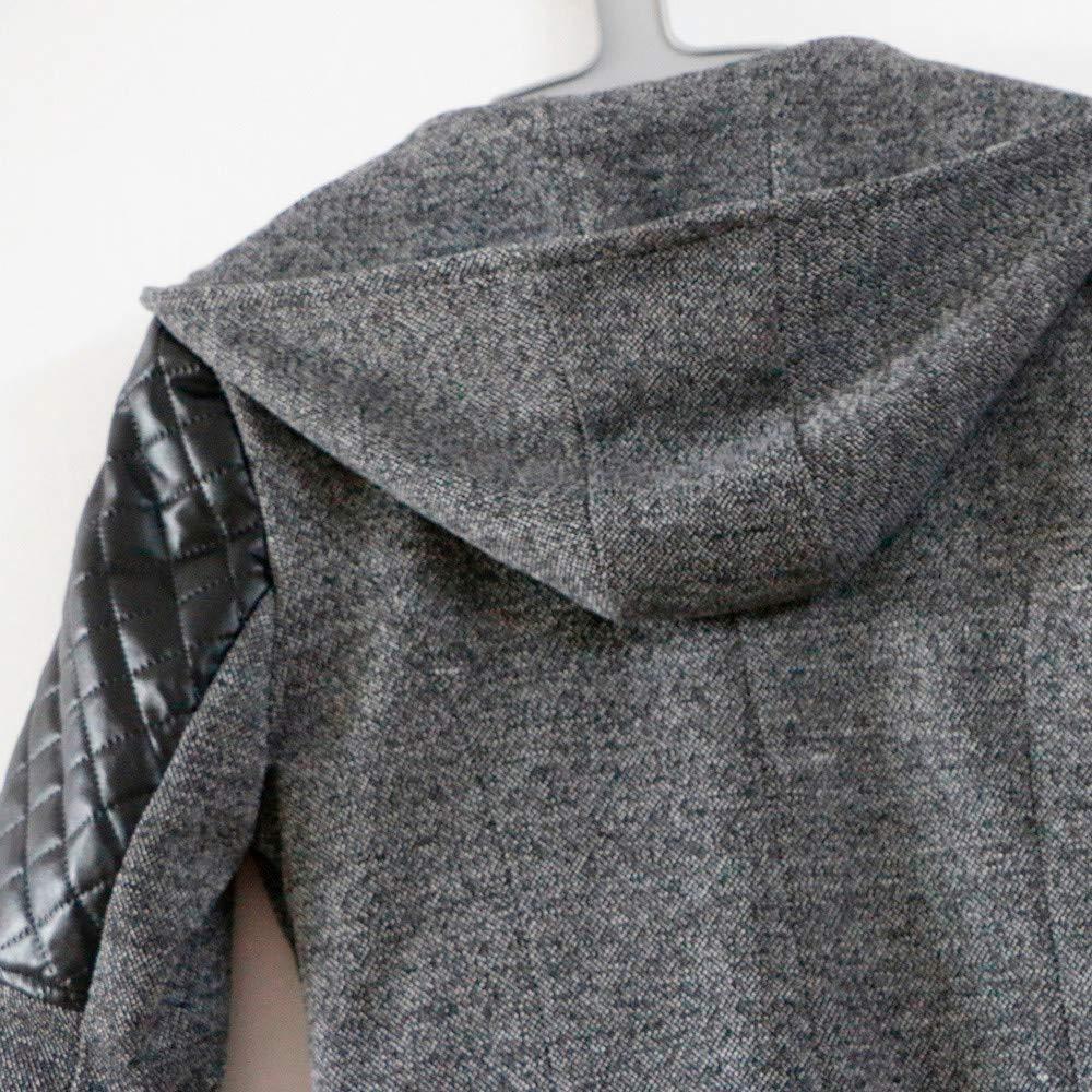 kolila Damen Wollmantel OTW Winter Warm Dick Schlank Jacke Unregelm/ä/ßig Diagonal Rei/ßverschluss Mit Kapuze Mantel Oberbekleidung