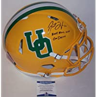 $699 » Justin Herbert - Autographed Official Full Size Riddell Speed Authentic Proline Football Helmet - Oregon Ducks - BAS Beckett Authentication