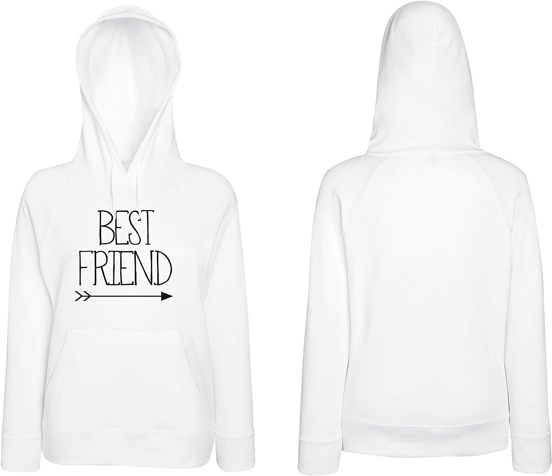 Cold & Heartless Best Friends Pullover für Zwei Mädchen 2er Set Hoodies Weiß
