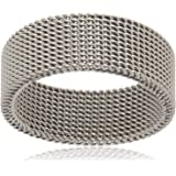 خاتم رجالي بتصميم مميز من الفضة مقاس 10