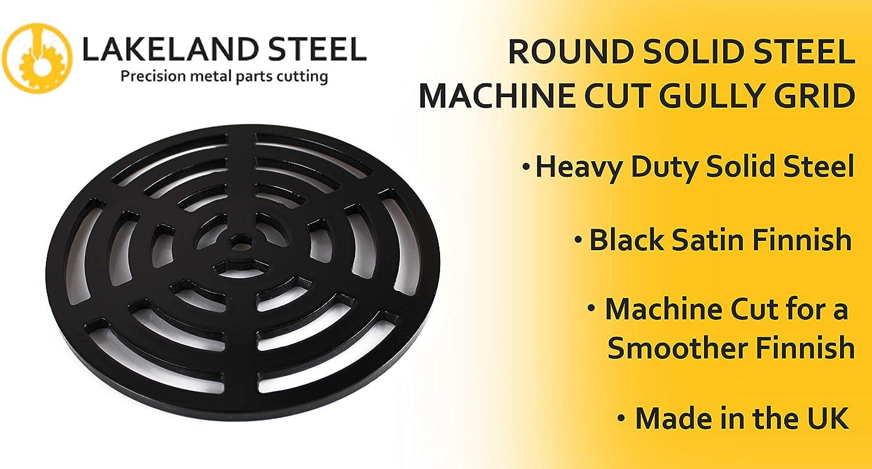 295/mm rund massiv Metall Stahl Schlucht Grid Heavy Duty Ablauf Cover ROST wie Gusseisen st/ärker