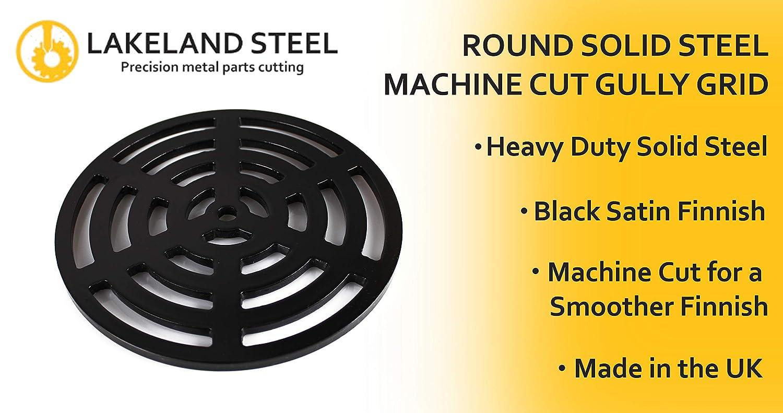 17,5 cm Grille d/évacuation ronde en acier solide aussi r/ésistant que la fonte