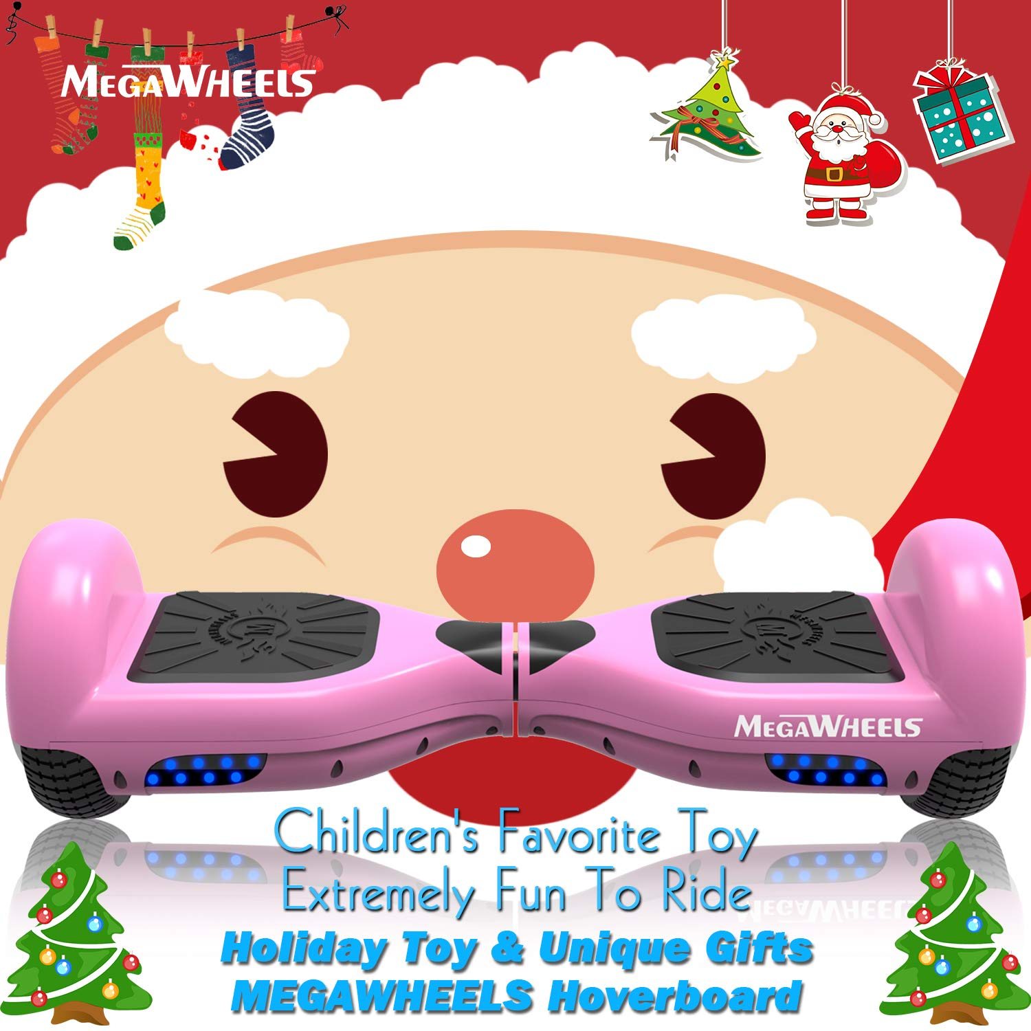 MegaWheels Hoverboard Self Balancing Scooter Hover Board for Kids Adults with UL Certified
