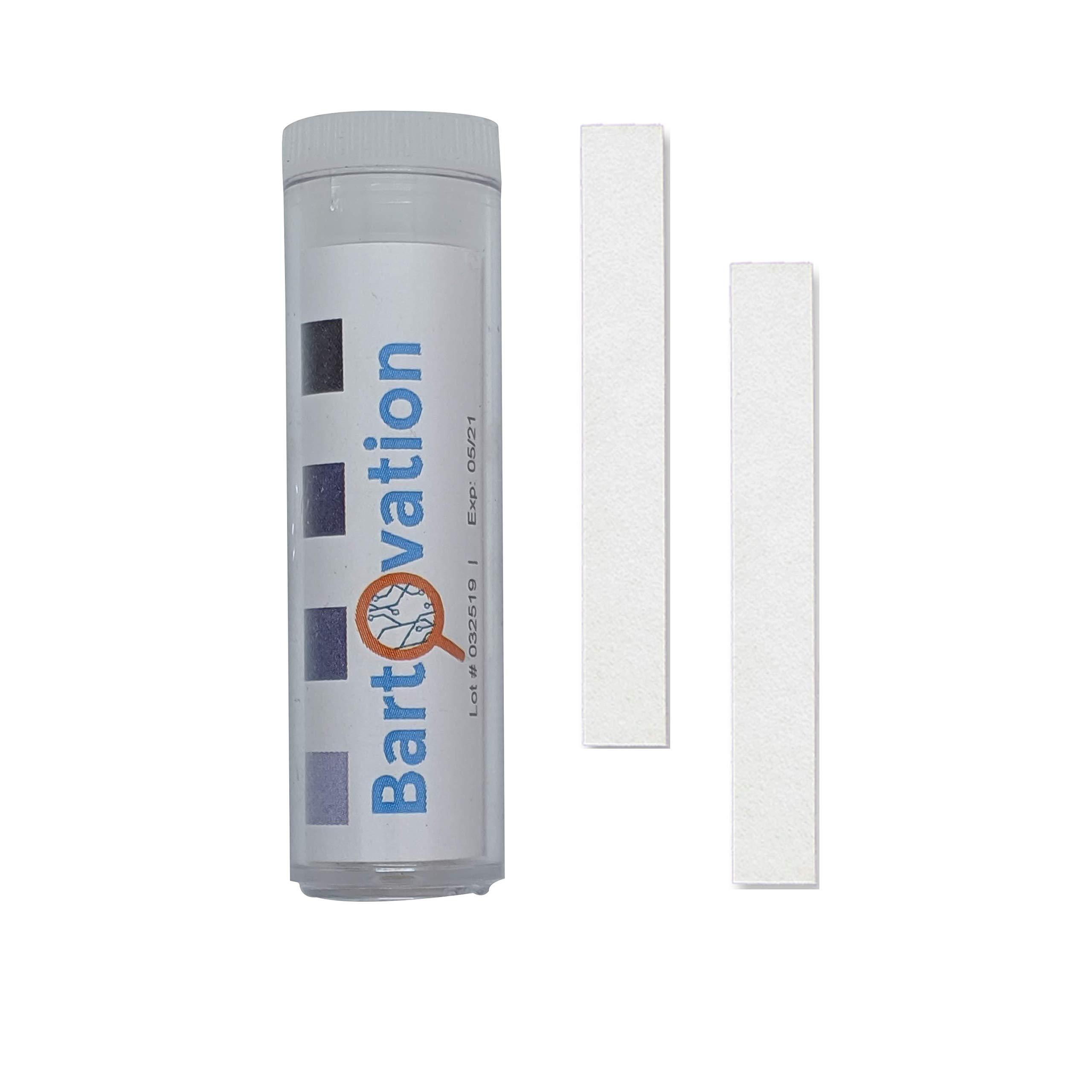 USA Made Restaurant Sanitizer Chlorine Bleach Test Paper, 10-200 ppm [Vial of 100 Paper Strips]