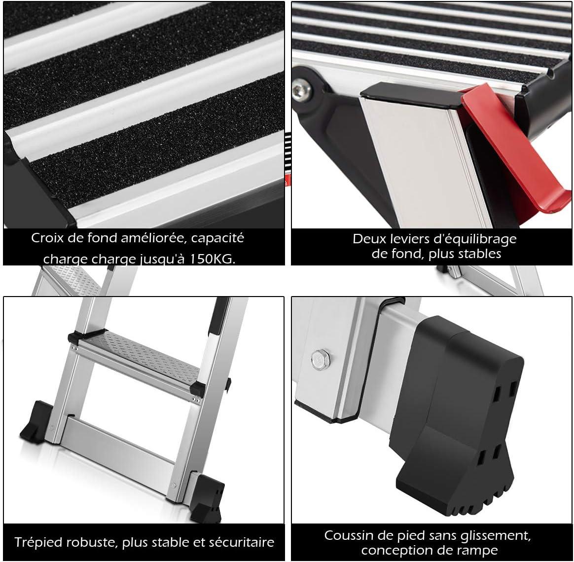 acier antid/érapant r/ésistant pour les travailleurs de la maison de travailleur de transport de support d/échelle de plate-forme descalier de petites /échelles Plate-forme de travail
