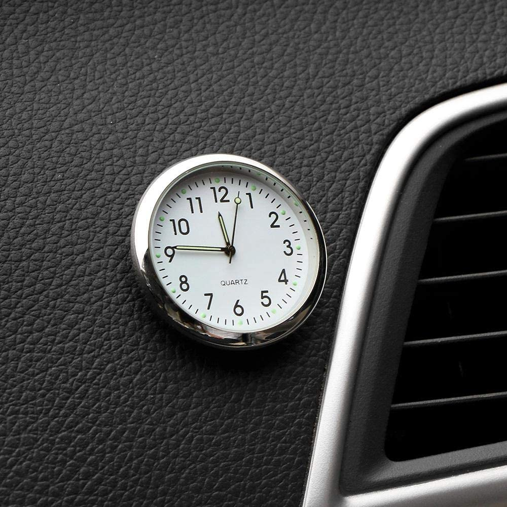 Cars Car Dashboard Clock Air Vent Stick-on Quarz Clocks 1.57 Mini Vehicle Dashboard Clock Perfect Decoration for Motorcycle SUV and MPV