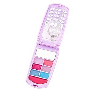 Claire's Love Flip Phone Bling Lip Gloss Set - Purple