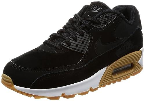 NIKE Women s Air Max 90 Se Gymnastics Shoes, Black Gum Light Brown White 9c275b2b10c1