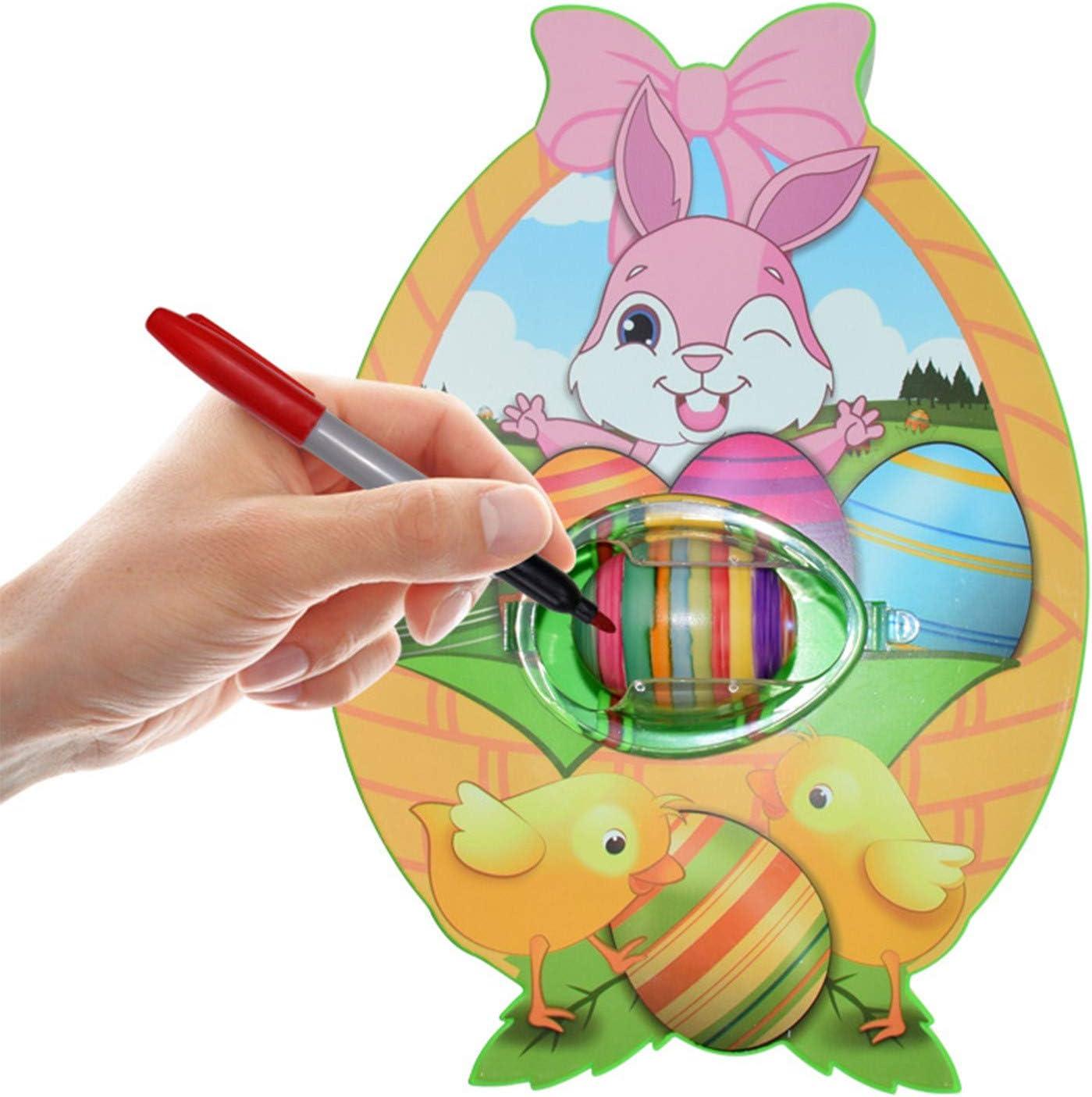 Ostereier Set Automatisch mit 8er Markern /& 3er Ostereier Plastik Ostereier Dekorieren Geschenk f/ür Kinder Ostereier Malmaschine zum Bemalen Eier Bemal Maschine mit LED /& Musik