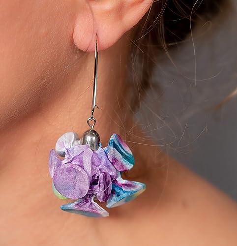 Unique Purple Dangle Earrings